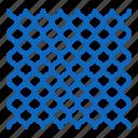chainlink, fence, mesh, metal, netting, rabitz icon