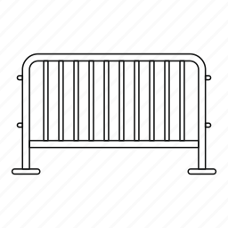 business, closed, line, outline, steel barrier, striped, thin icon