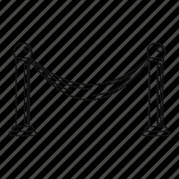 barrier, business, closed, line, outline, thin, tourniquet icon