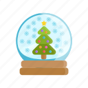 christmas tree, holidays, snow, snowball, tree, winter, xmas icon