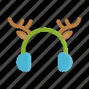 christmas, earmuffs, reindeer, rudolf, winter, xmas
