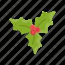 christmas, holiday, icon, mistletoe, xmas icon