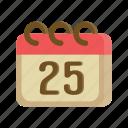 25, calendar, christmas, event, holiday, winter, xmas