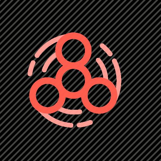 fidget, spinner, spinning, toy icon