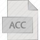 acc, document, extension, file icon