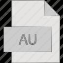 au, audio, extension, file, format