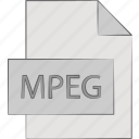 compressed, files, formats, mpeg icon