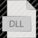 dll, dynamic, library, link icon