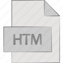 extension, file, format, htm