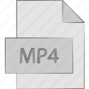 clip, movie, mp4, video icon
