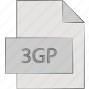 3gp, container, format, multimedia icon