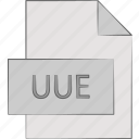 extension, file, types, uuencoded icon