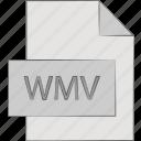 file, format, video, wmv icon