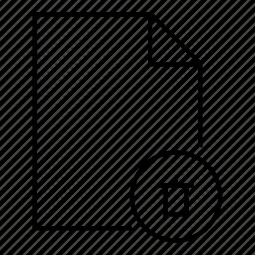 deleted, document, dump, remove, trash file, user interface icon