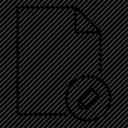 doc, document, edit document, edit file, file, format, pencil icon