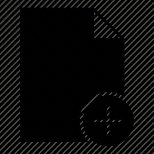 add, add file, document, file, plus icon