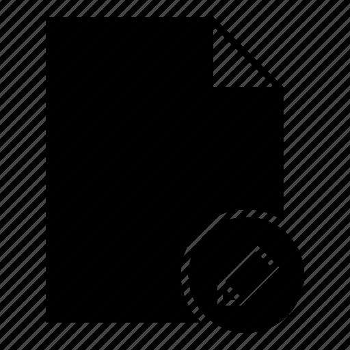doc, document, edit document, edit file, file, pencil icon