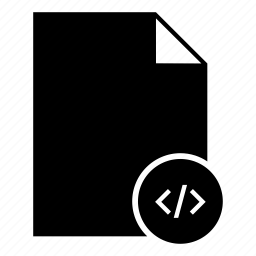 code file, document, file, file format, programmer, programming icon
