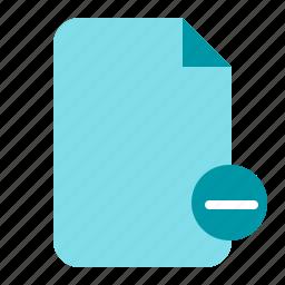 ., delete, delete document, delete file, document, paper icon
