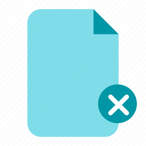 delete, delete document, delete file, document, paper icon