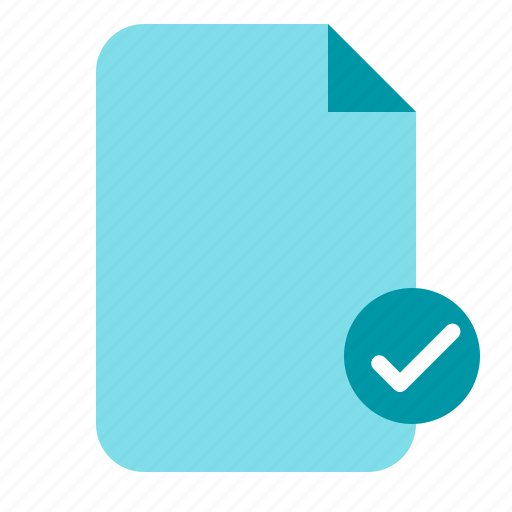 approve, approve document, document, paper icon
