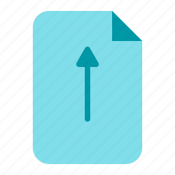 document, file, paper, upload icon