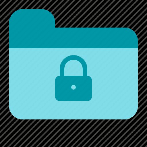 folder, lock, password, secure icon