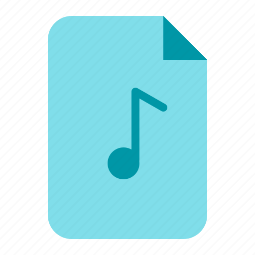 document, file, music, song icon