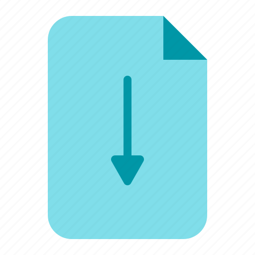 document, download, file, save icon