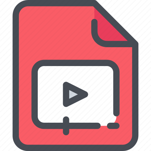 Document, file, movie, paper, video icon - Download on Iconfinder