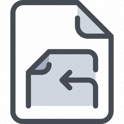 arrow, document, file, paper icon