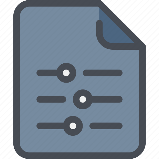 control, document, file, option, paper icon