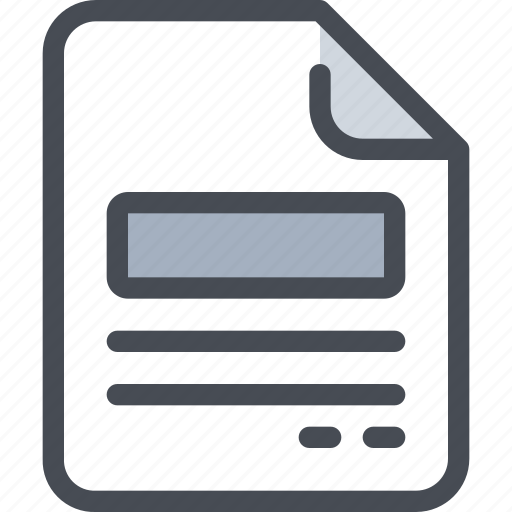 content, document, file, paper icon