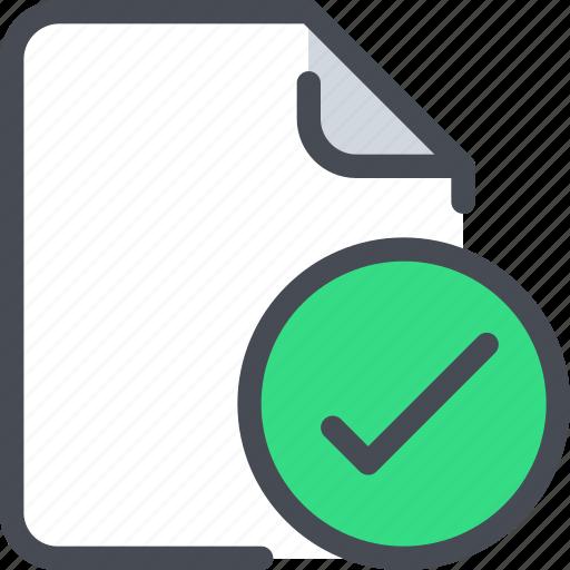 check, document, file, paper icon