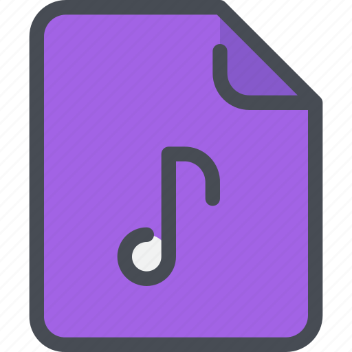 document, file, media, music, paper icon