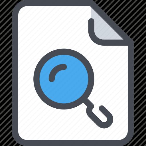 document, file, paper, search, seo icon