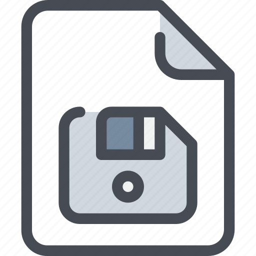 disk, document, file, paper, save icon