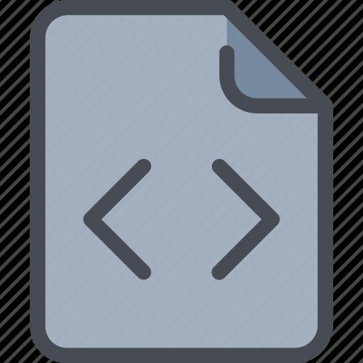 code, coding, development, document, file, paper icon