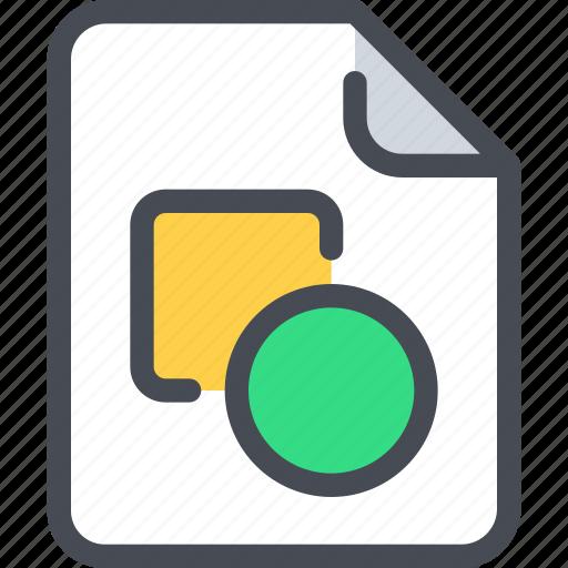 art, design, document, education, file, paper icon