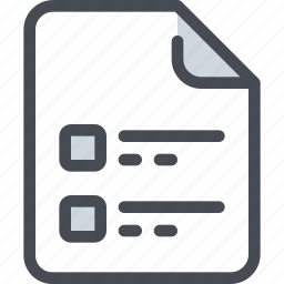 document, file, list, paper icon