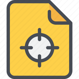 document, file, paper, seo, target icon