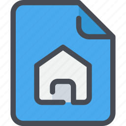 document, file, home, paper icon