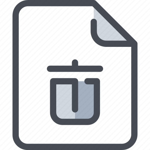 Document, file, paper, remove, trash icon - Download on Iconfinder