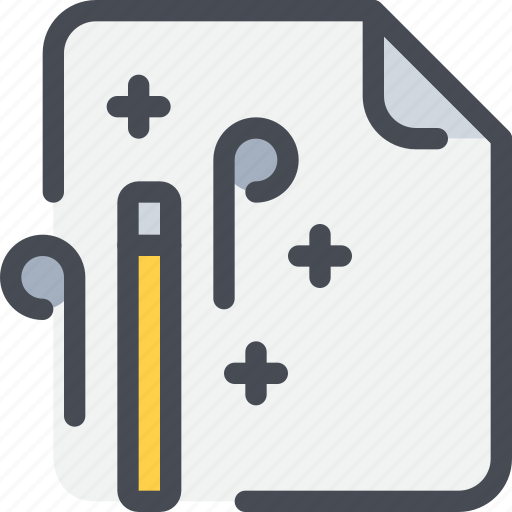 document, edit, editing, file, magic, paper icon