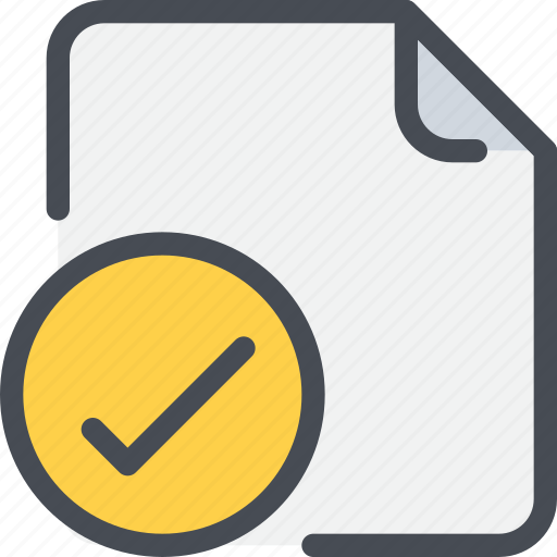 action, check, document, file, paper icon
