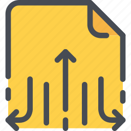 arrow, document, file, paper, send, share, sharing icon