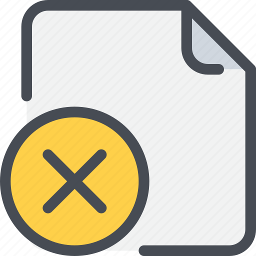 check, document, file, paper, remove icon