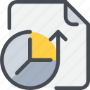 arrow, data, database, document, file, paper icon