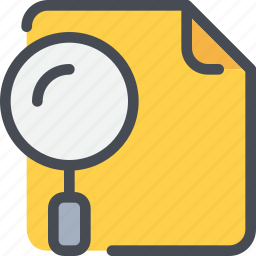 business, document, file, paper, research, search, seo icon