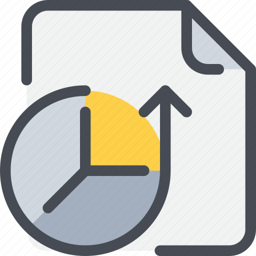 arrow, data, database, document, file, paper icon